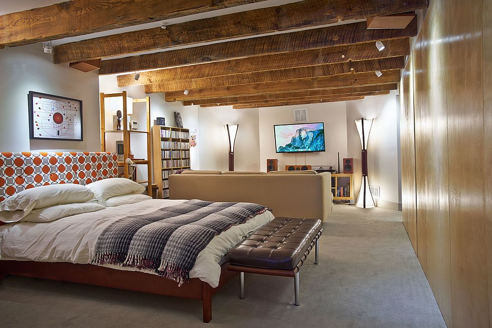 Turn the basement into an additional bedroom or guest space with ease [Design: Sanders Pace Architecture]