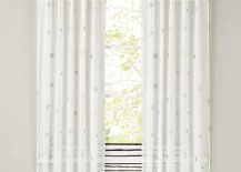 Twinkling star curtains for the modern nursery