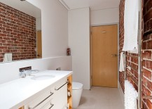 Uncover the beauty of original brick walls in your bathroom