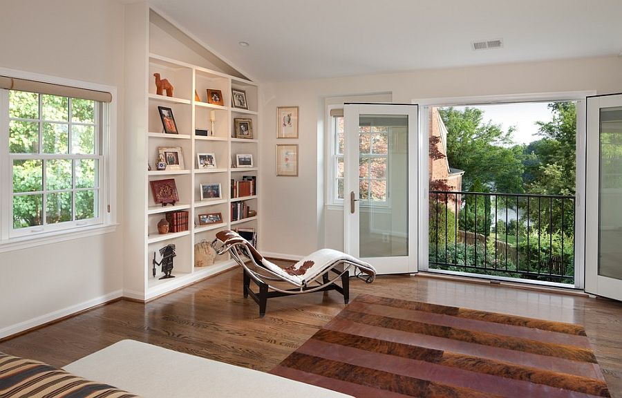 Use the Juliet balcony to open up the interior to the view outside in an urban home [Design: Anthony Wilder Design/Build]