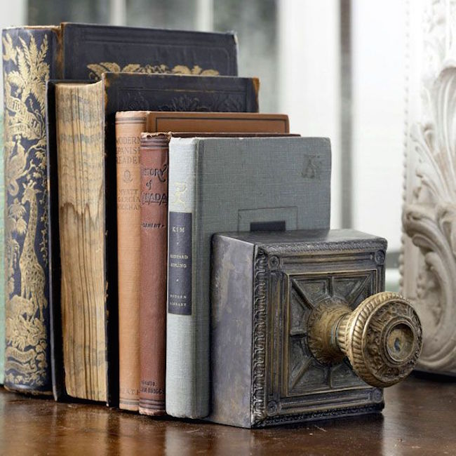 Vintage door knob bookends
