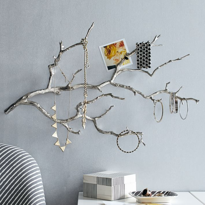 Chic jewelry stands with sculptural style for Tree branch jewelry holder