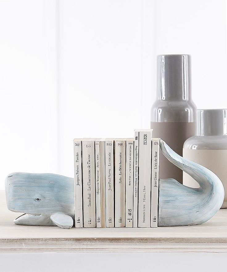 Whale bookends