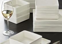 White dinnerware from CB2