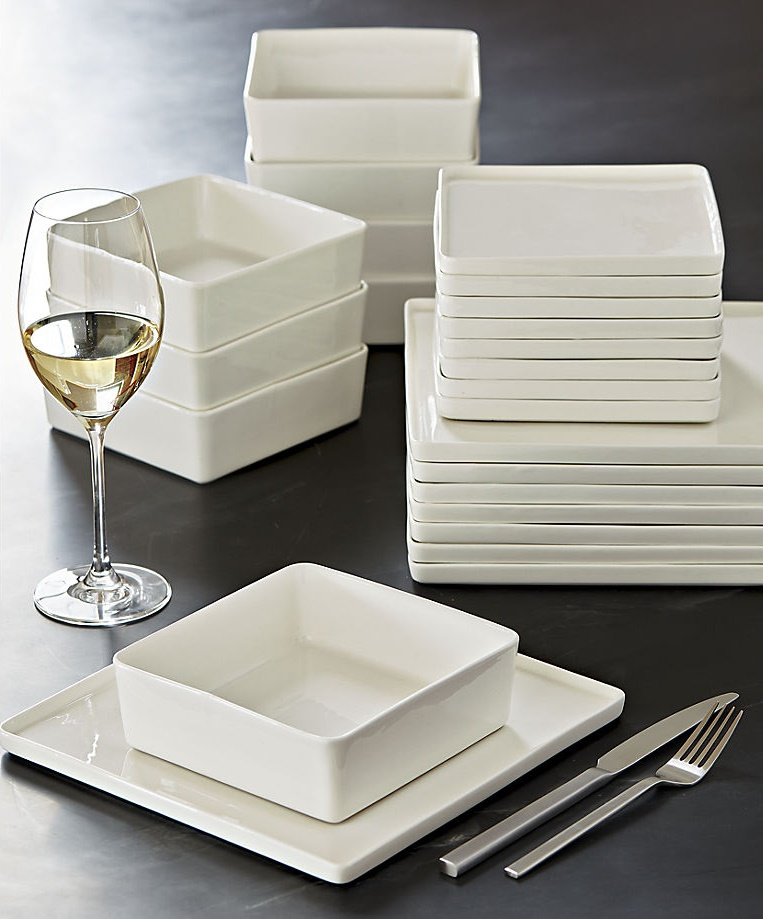 White dinnerware from CB2