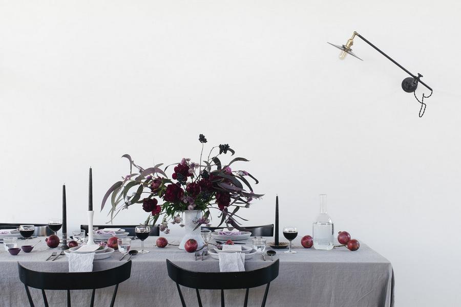 Winter tabletop by Athena Calderone