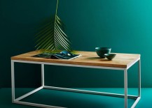 Wood and metal coffee table from West Elm