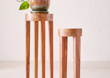 Wooden plant stands from Urban Outfitters