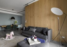 Wooden-wall-adds-textural-elegance-to-the-small-interior-217x155