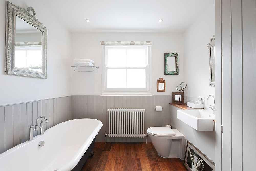 A balance between gray and white in the Victorian bathroom [Design: Granit Chartered Architects]