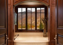 A touch of extravagance for the traditional bathroom