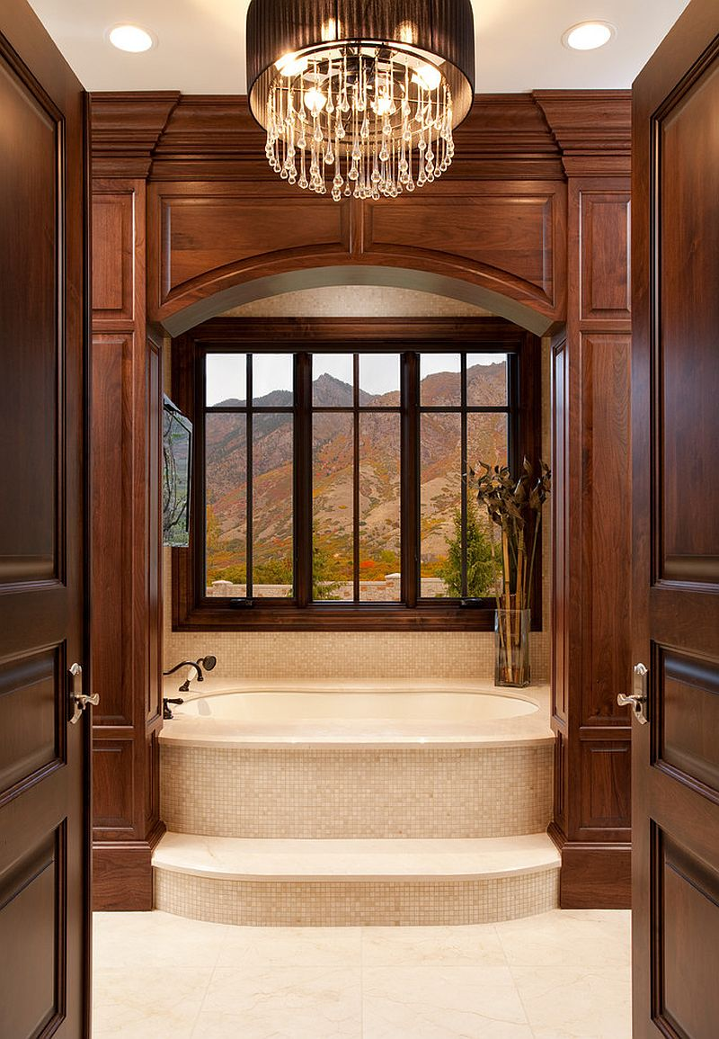 A touch of extravagance for the traditional bathroom [Design: THINK Architecture]