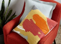 Abstract pillow cover from West Elm