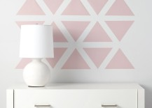 Accent wall featuring decals from The Land of Nod 217x155 20 Home DIY Projects Designed with Kids in Mind