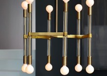 Acrylic and metal chandelier from West Elm
