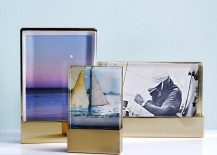 Acrylic and metal frames from West Elm