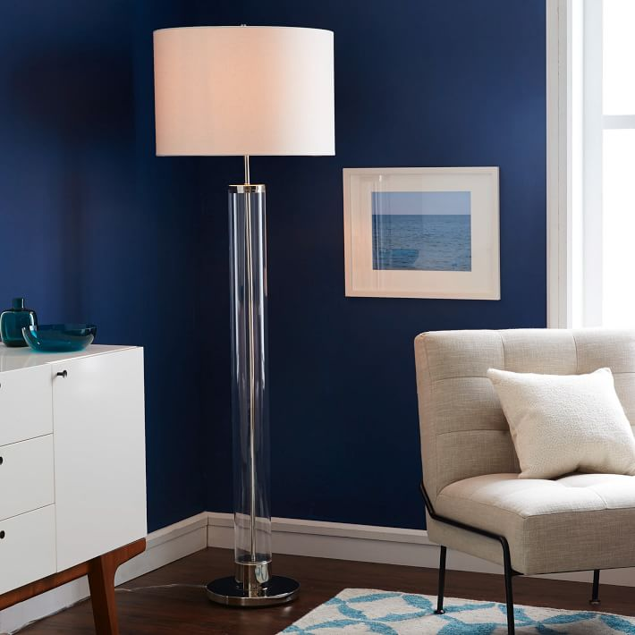 Acrylic floor lamp from West Elm