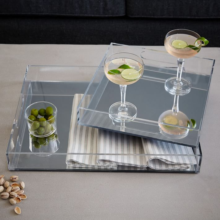 Acrylic mirrored trays from West Elm