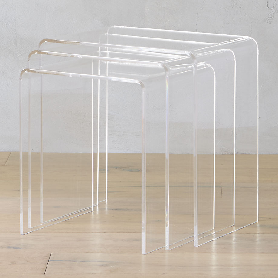 Acrylic nesting tables from CB2