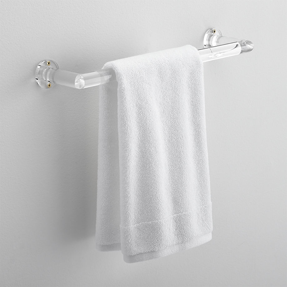 Acrylic towel bar from CB2