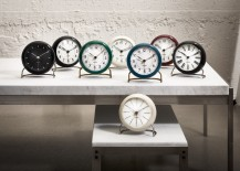 Arne Jacobsen Table Clock collection 217x155 10 Examples of Fantastic Plastic Design