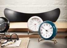 Arne Jacobsen Table Clocks 217x155 10 Examples of Fantastic Plastic Design