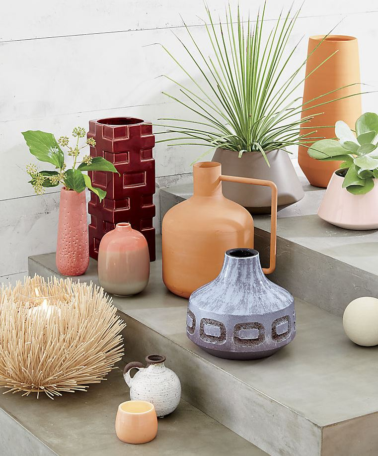 Assortment of vases and planters from CB2