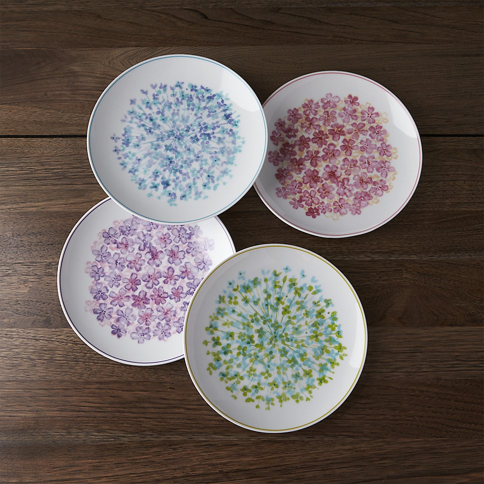 Blossom plates from Crate & Barrel
