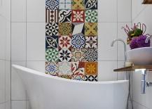 Bold and vivacious tiles for the modern Mediterranean bathroom