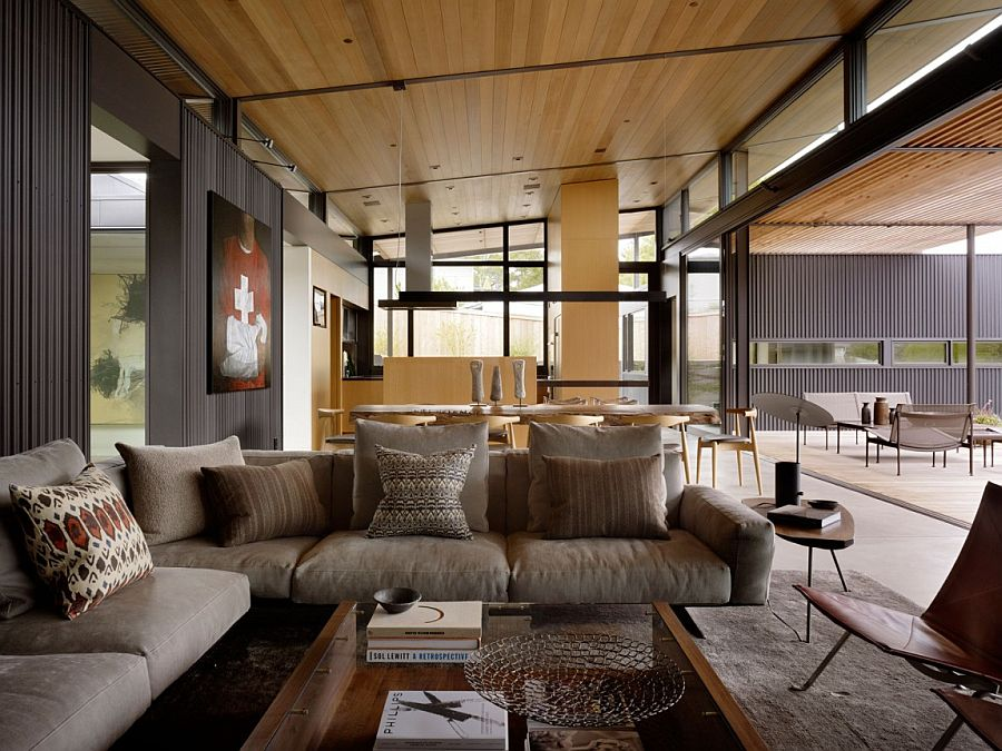 Courtyard Residence Raw Industrial Elements Tamed By Modern Ergonomics