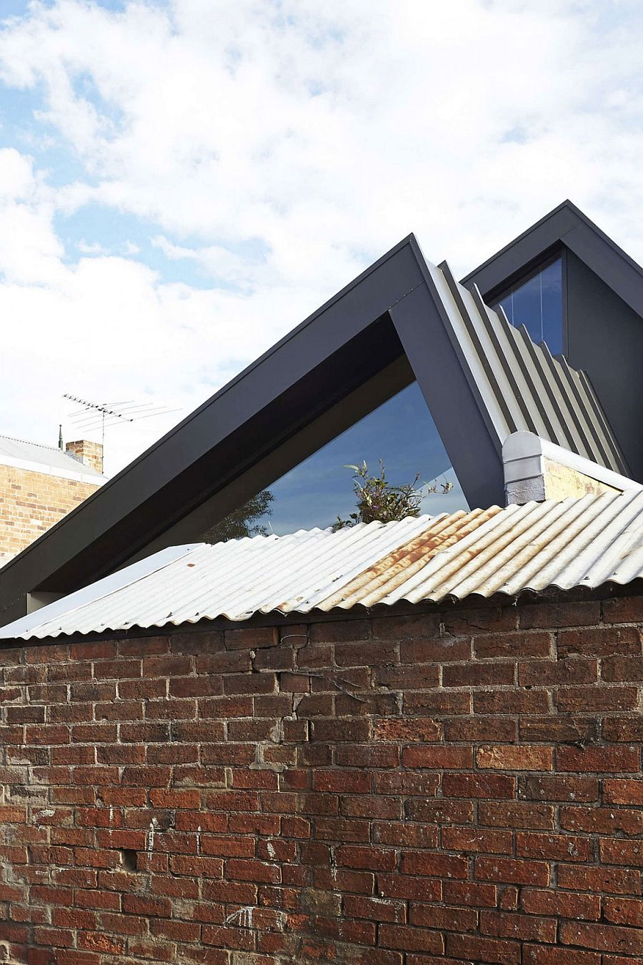 Brick exterior of heritage Victorian terrace house in Australia