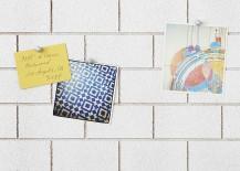 Brick wall corkboard from CB2