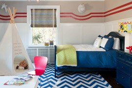 Fashionably Fun: 25 Kidsu0027 Bedrooms Showcasing Stylish Chevron Patterns