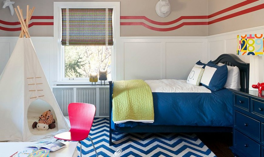 Fashionably Fun: 25 Kids' Bedrooms Showcasing Stylish Chevron Patterns