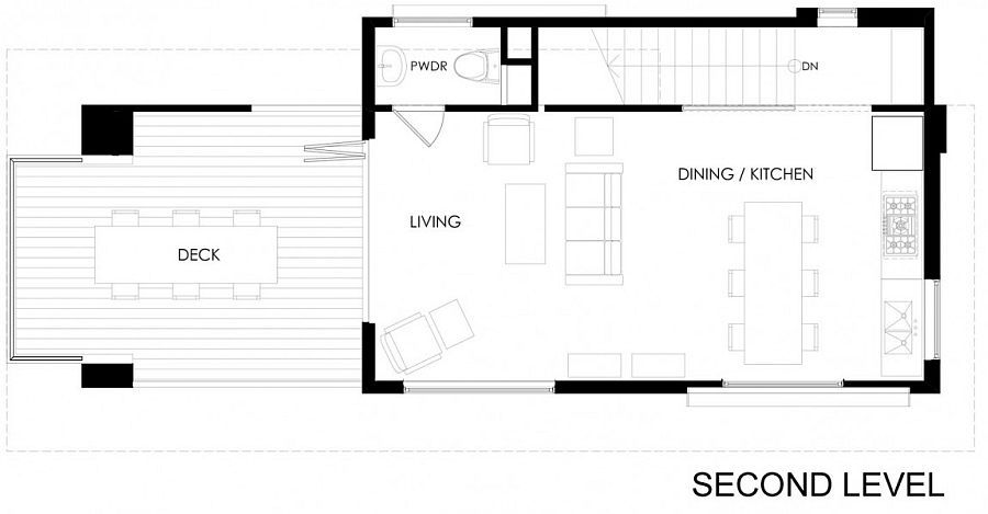 Cabin in Wofford Heights, California - Floor plan of top level