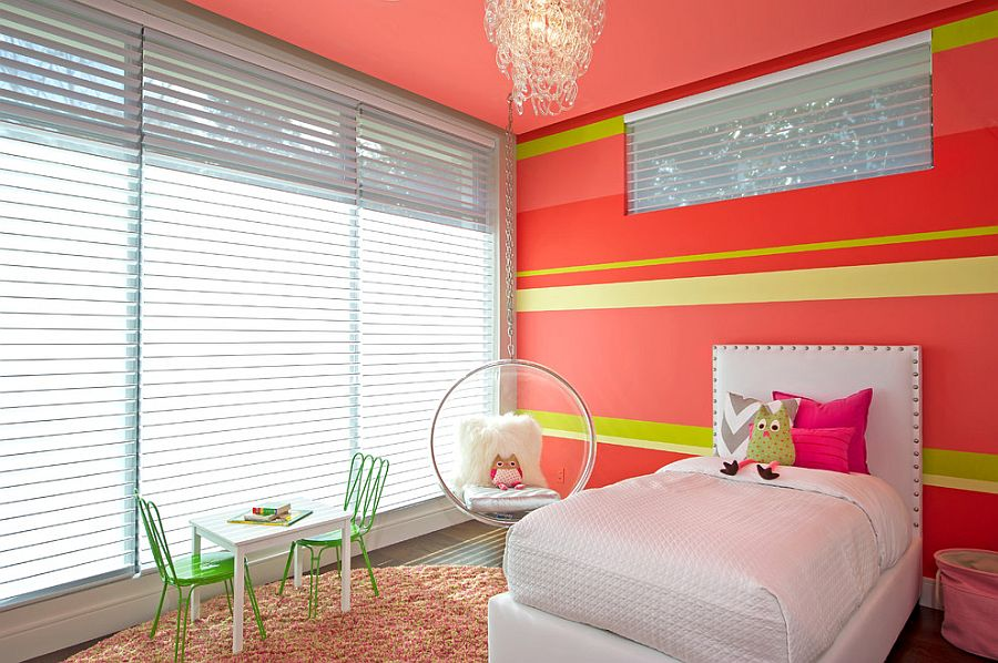 Cheerful and chic kids' room that wows you with its glam! [Design: BMG Design Studio]