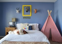 Chevron Patterned Tepee promises a world of endless fun 217x155 Fashionably Fun: 25 Kids' Bedrooms Showcasing Stylish Chevron Patterns
