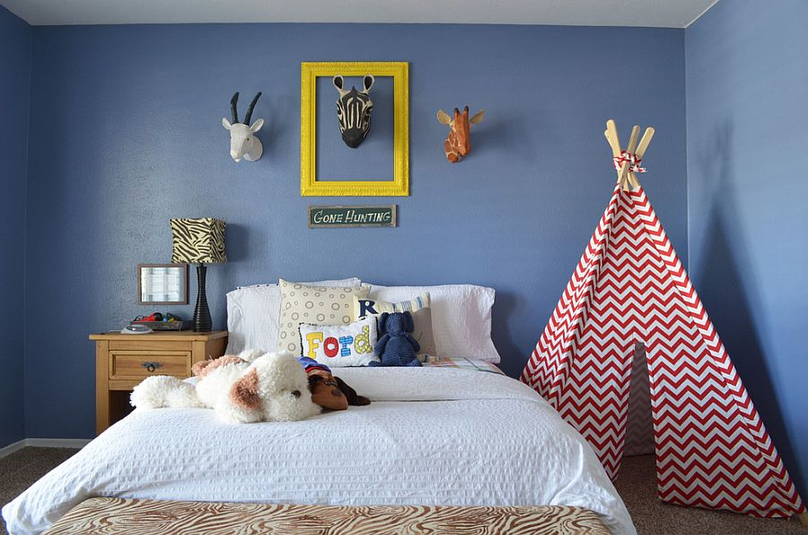 Chevron-Patterned Tepee promises a world of endless fun! [From: Sarah Greenman]