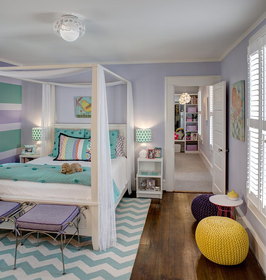 25 Kids' Bedrooms Showcasing Stylish Chevron Pattern