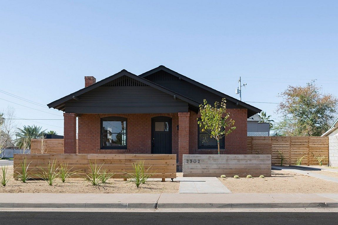 Classic brick extreior and metal roof of Twenty-Three 02 in Phoenix