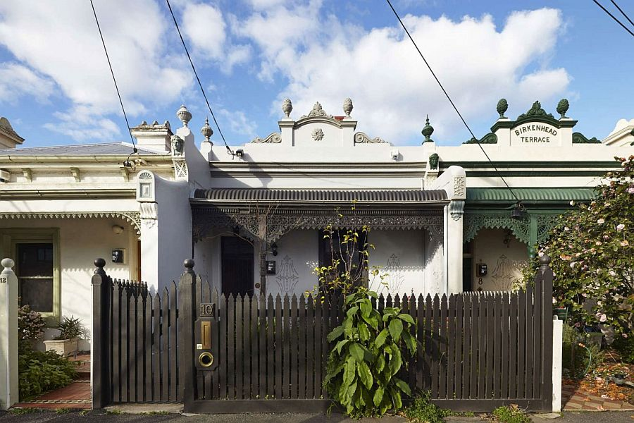 Classic street facade of Big Little House by Nic Owen Architects in Fitzroy North