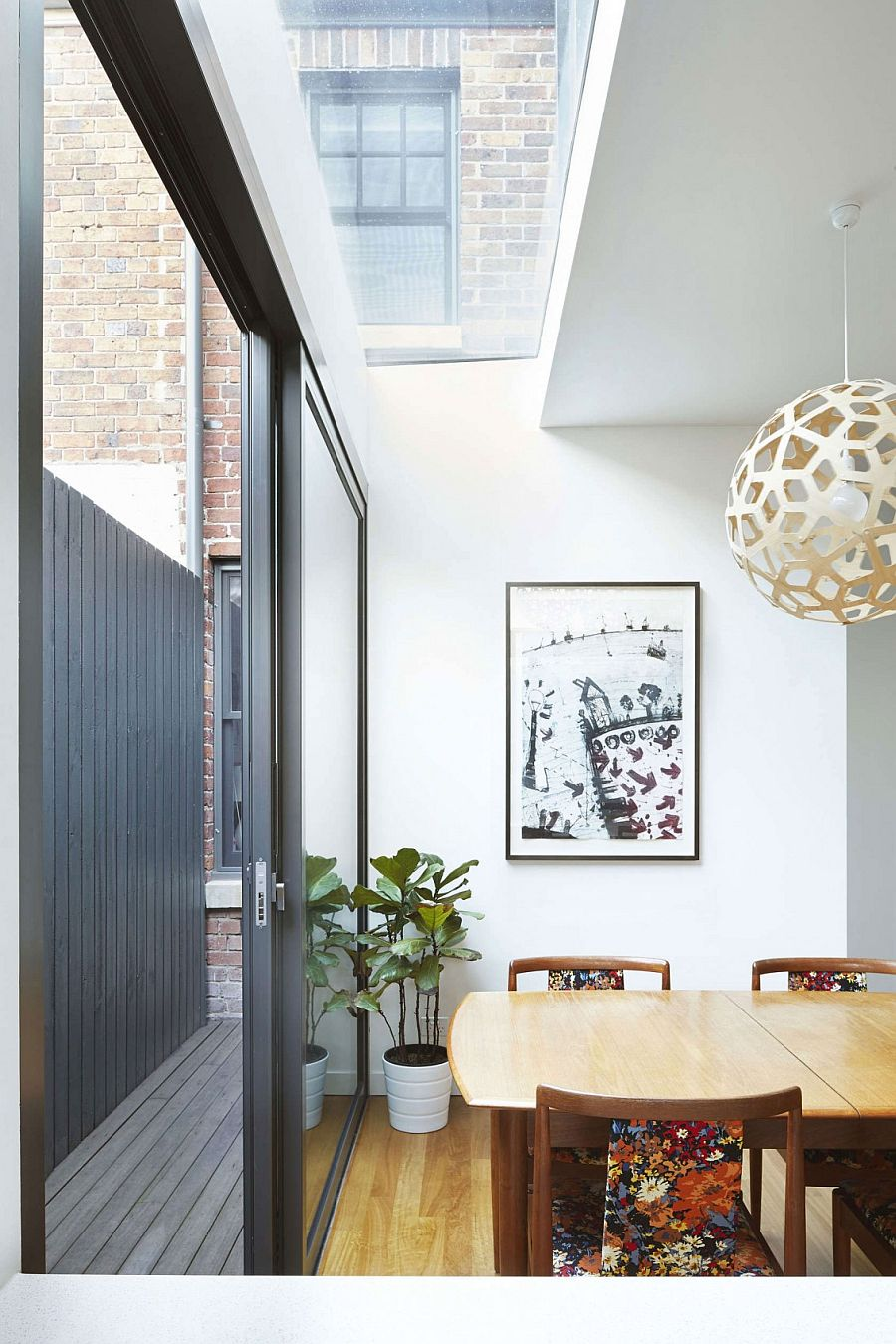 Clever skylight design brings natural light into the dining room