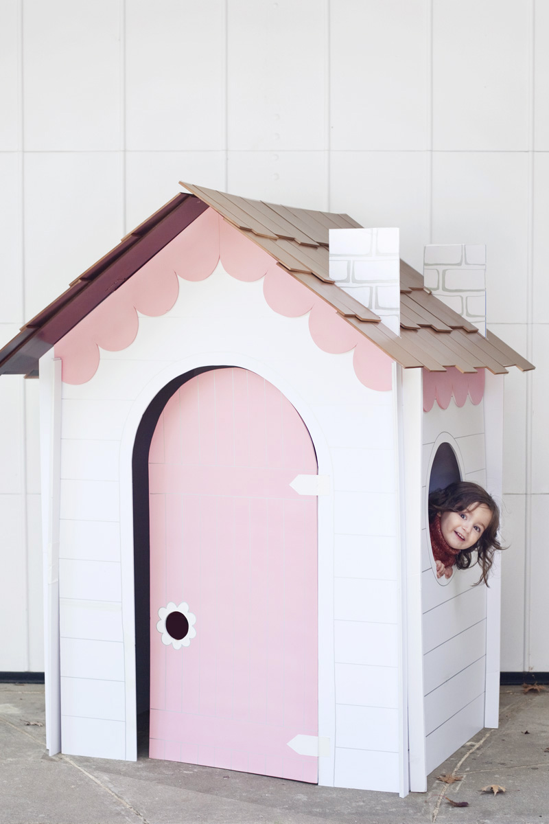 Collapsible playhouse DIY from A Beautiful Mess