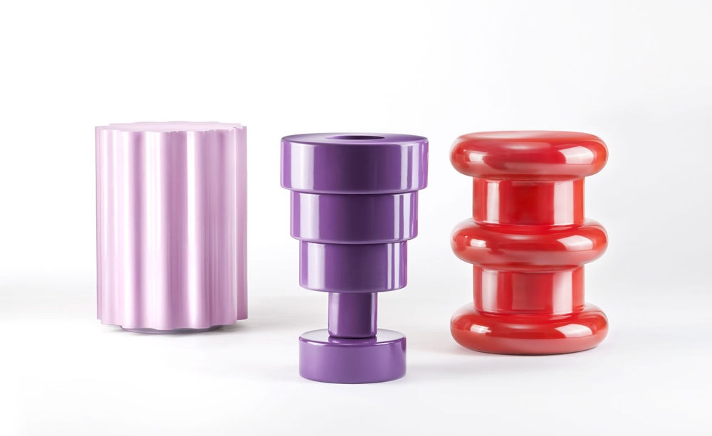 Colonna stool, Calice vase and Pilastro stool. Image via wallpaper.com.