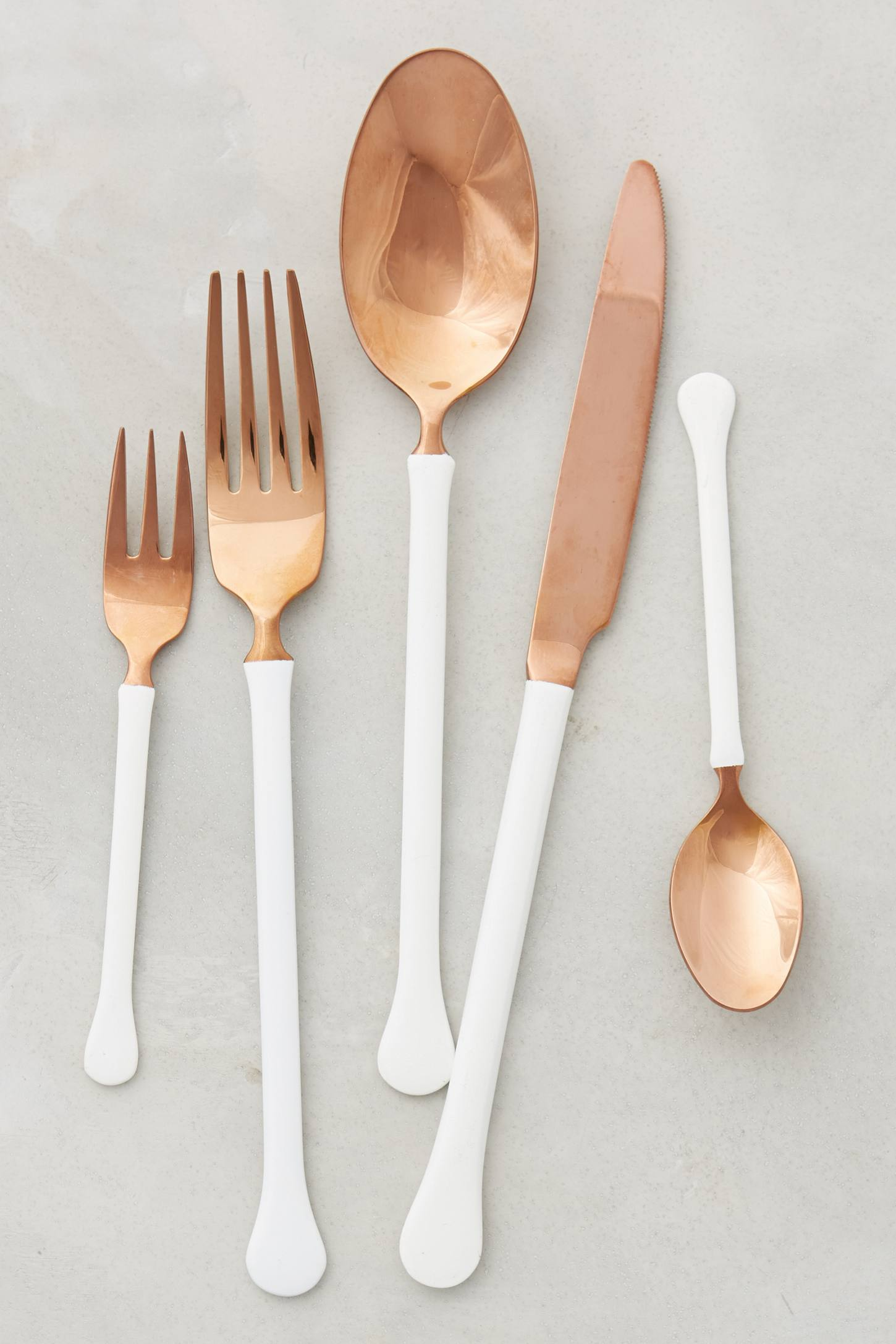 Copper flatware from Anthropologie