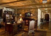 Cozy rustic home office idea