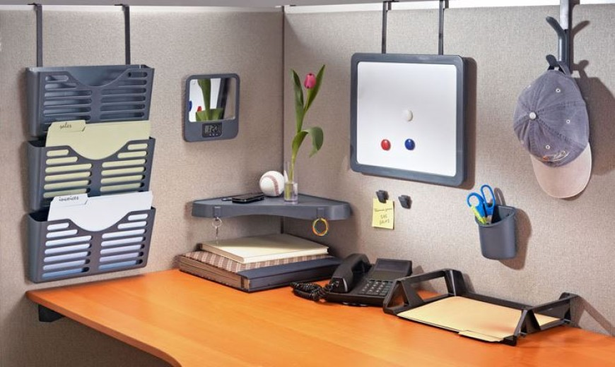 Bon DIY Cubicle Organization