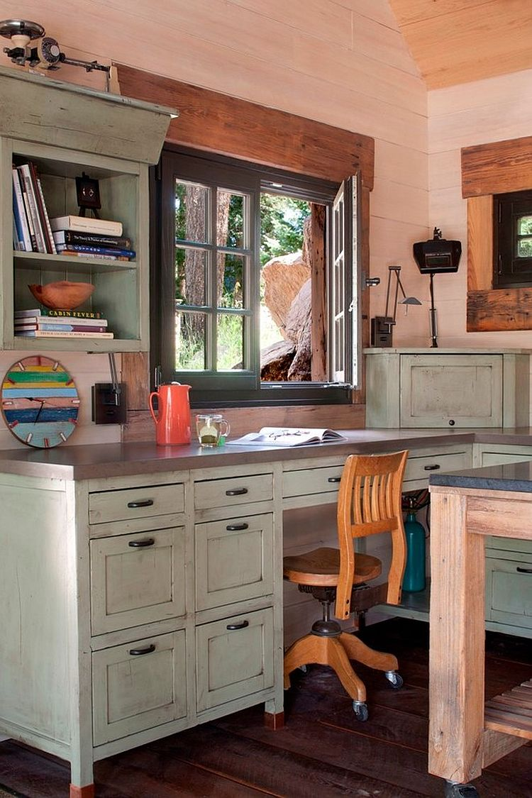 30 gorgeous shabby chic home offices and craft rooms custom built desk for the small home office design tkp architects