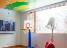 Custom ceiling for the kids' playroom