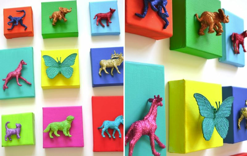 DIY animal art from Cakery & Papery